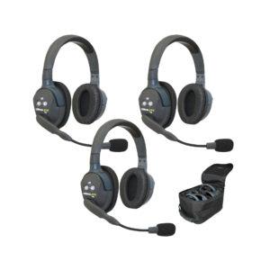 Eartec UltraLITE™ 3-Person Full Duplex Headset