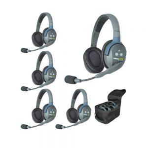 Eartec UltraLITE™ 5-Person Full-Duplex Setup