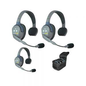 Eartec UltraLITE™ 3-Person Single Ear Headset